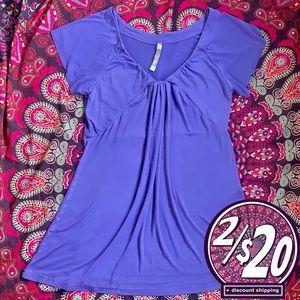 2/$20 Kismet Stretchy Tunic Blouse Lavender TShirt